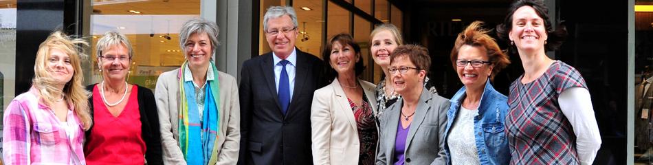 FAW Team Besuch vom Bürgermeister